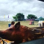 A Hog roast at a festival