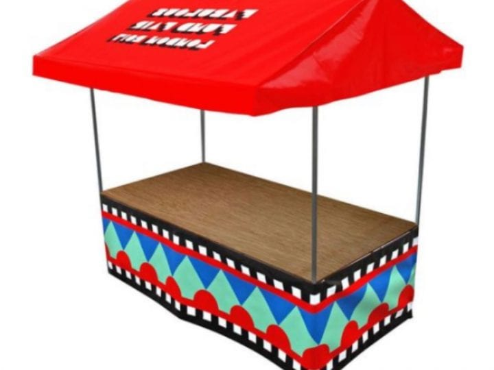 Custom Jules Elite 8' x 3' Printed market stall - Red roof