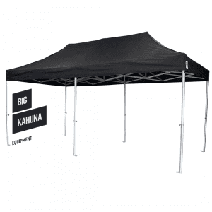 Big Kahuna pop up black gazebo 6m