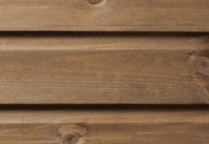 Wooden kiosk shiplap cladding