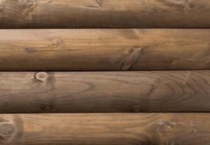 Wooden Kiosk loglap cladding