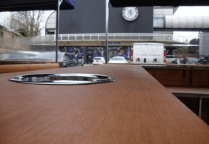 Wooden worktop with sink